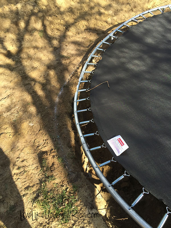 How to Install an Inground Trampoline- Step-by-step easy to follow instructions. Makes trampolines easier to access and safer for yours kids.