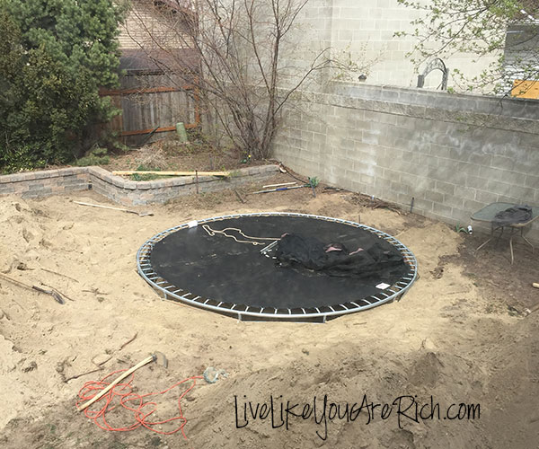 How to Install an Inground Trampoline- Step-by-step easy to follow instructions. Make a trampoline easier to access and safer for your kids.