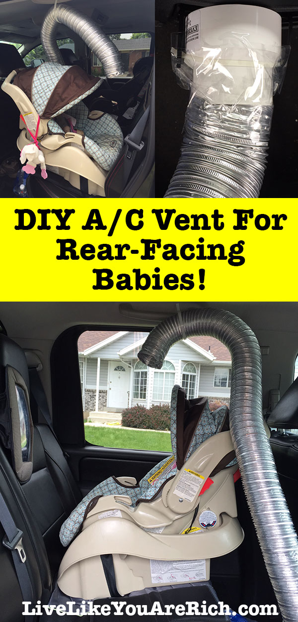 DIY A/C Vent for Rear-Facing Babies! How to Keep Your Baby Cool in Their Rear-Facing Car Seat.