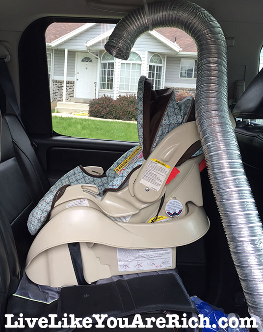 DIY A/C Vent For Rear Facing Babies! How To Keep Your Baby