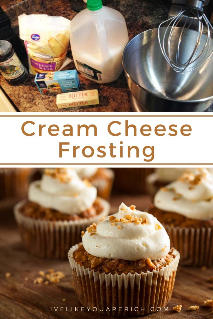 This Cream Cheese Frosting recipe has been in my the family for over 50 years. It's super creamy, lightly rich, and has a great balance of flavors. We've made it for hundreds of people and they always remark on how amazing it is. #creamcheesefrosting #frosting