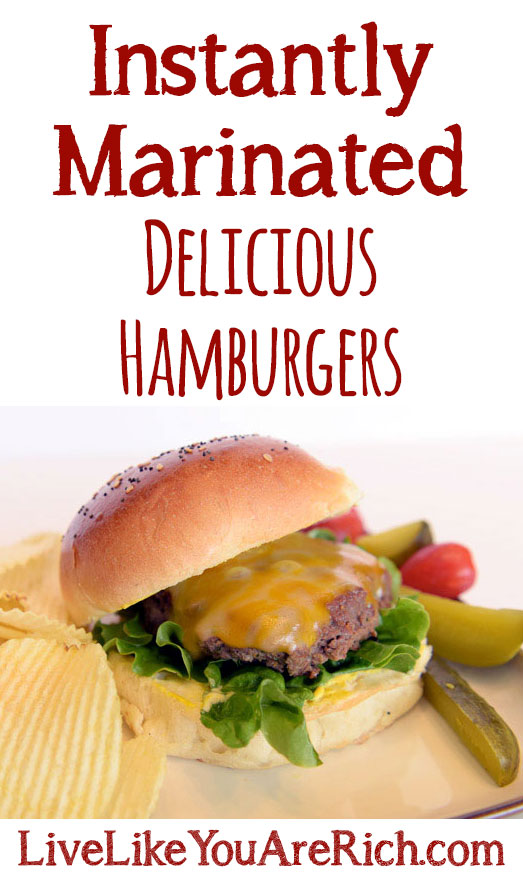 Instantly Marinated Delicious Hamburgers
