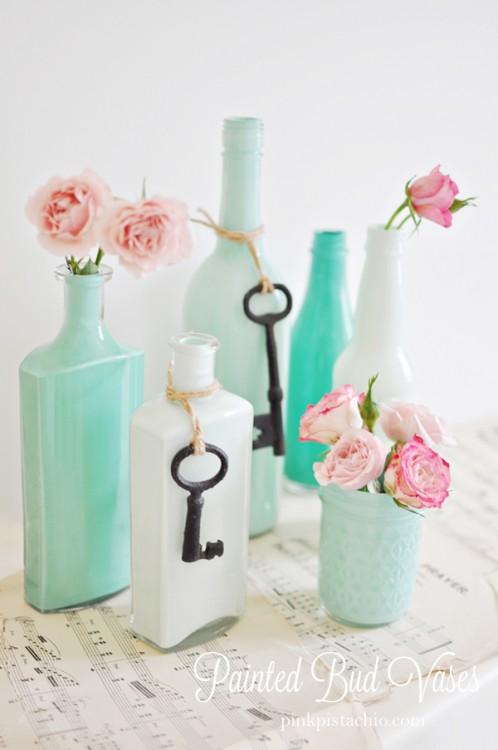 mint-painted-bud-vases