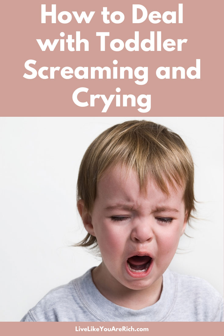 Here is a single most effective strategy that I found for dealing with toddler screaming and crying. There are a lot of great ideas to try as well. #parenting #parentingtips #parenting101 #toddler