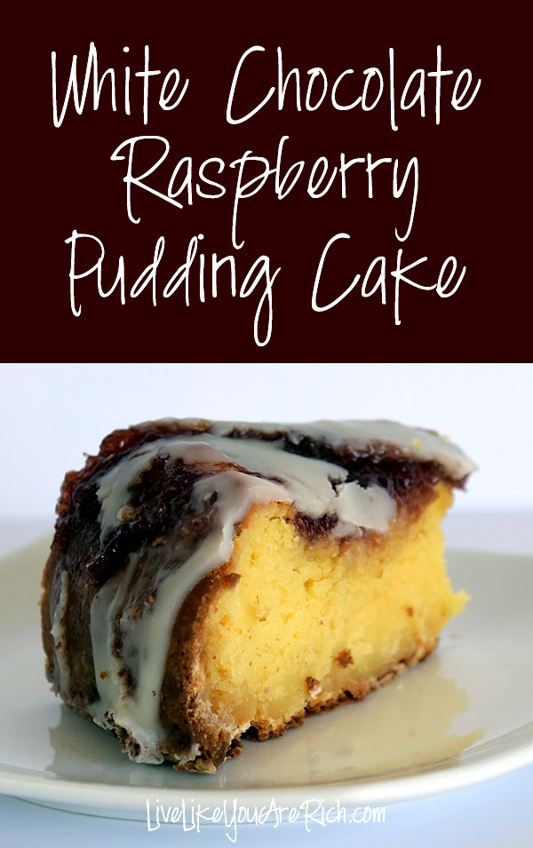 White Chocolate Raspberry Pudding Cake Recipe