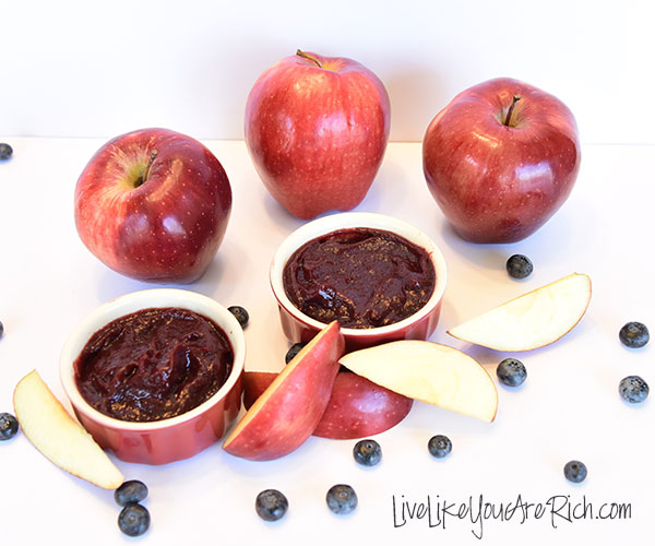 Baby Apple Blueberry Puree Recipe