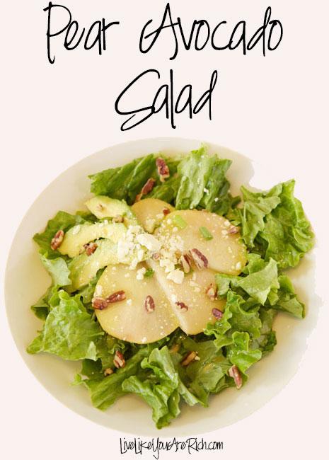 Pear Avocado Vinaigrette Salad