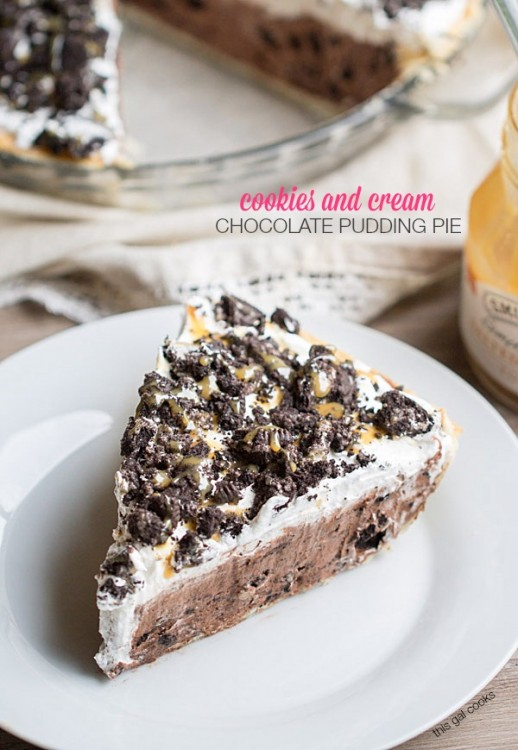 and Cream Chocolate Pudding Pie – This Cookies and Cream Pudding ...