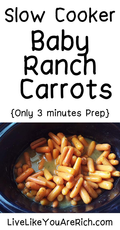 Slow Cooker/Crock Pot Baby Ranch Carrots
