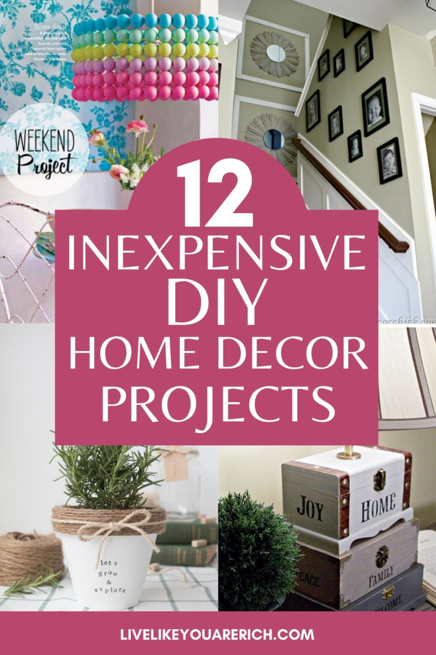 You don't have to spend a fortune decorating your home beautifully. Here is a proof of this! Check out these amazing ideas of how you can create quality home decor items inexpensively. #homedecor #diy #decorating