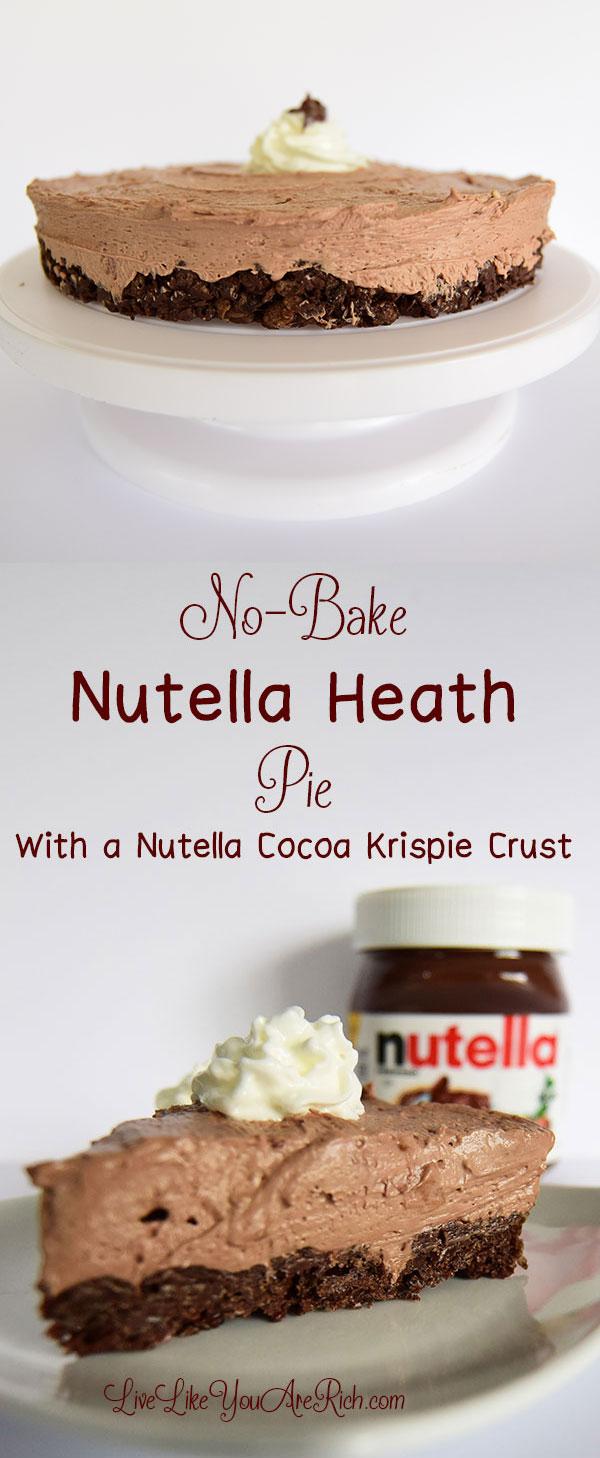 No-Bake Nutella Heath Pie