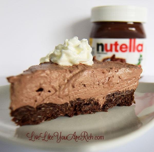 No-Bake Nutella Heath Pie with a Nutella Cocoa Krispie Crust