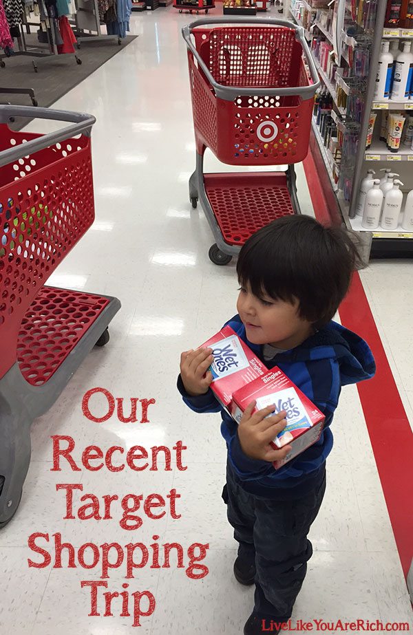 Our Recent Target Shopping Trip