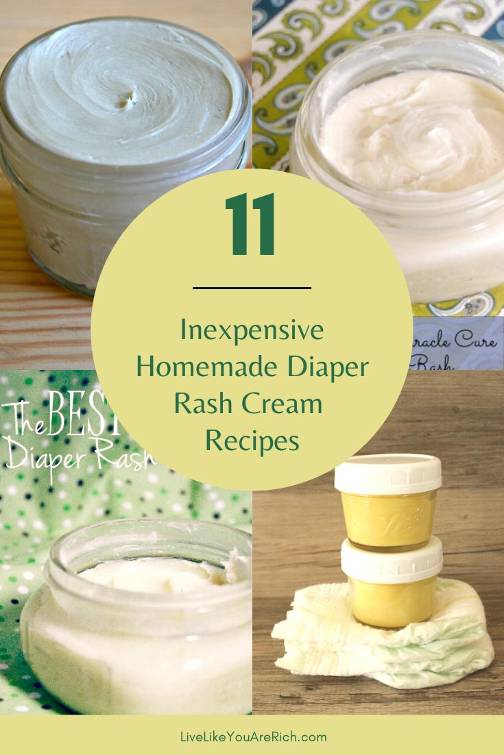 Through this experience, I've learned that babies respond differently to diaper rash creams. They are not a one recipe works for all type of thing. Here are 11 recipes. #diaperrashcream #rashcream