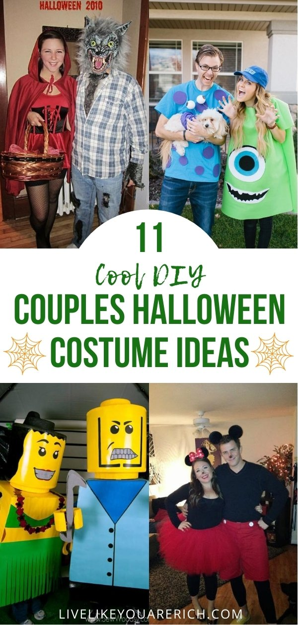 I love great cute and cool halloween costumes. It is even funner to see handmade costumes for couples. I hope you enjoy these 11 as well.