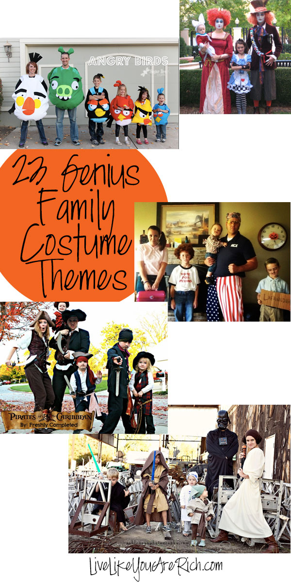 Halloween costumes are one of my all-time favorite things to see and make! Here are 23 Genius Family Costume Themes—impressively, many are homemade.
