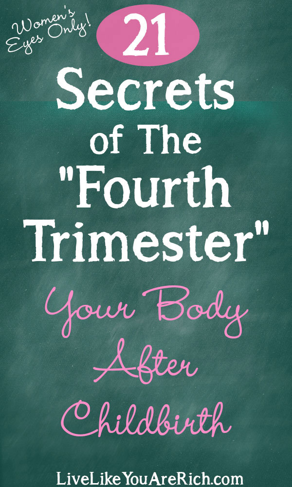 """Fourth Trimester"" Secrets: Your Body After Childbirth"