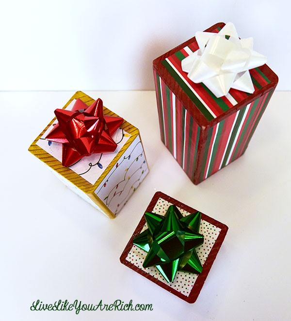 Christmas Present Wood Craft