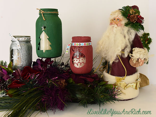 diy christmas mason jar craft