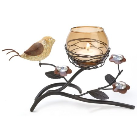 Partridge and pear tree candle holder