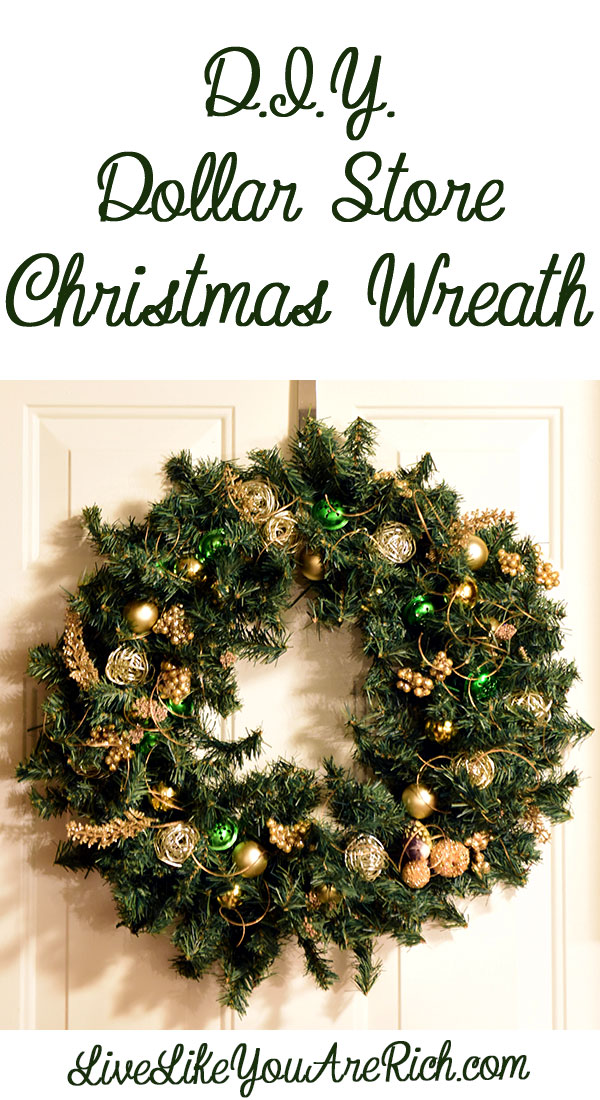 how to make a dollar store christmas wreath - 99 Cent Store Christmas Hours