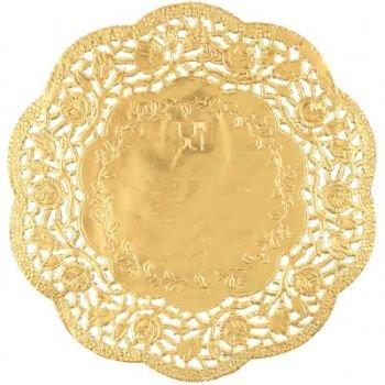 gold doilies