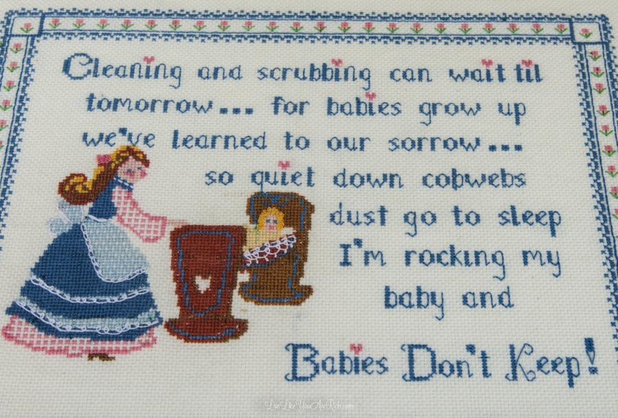 Babies Don't Keep Cross Stitch