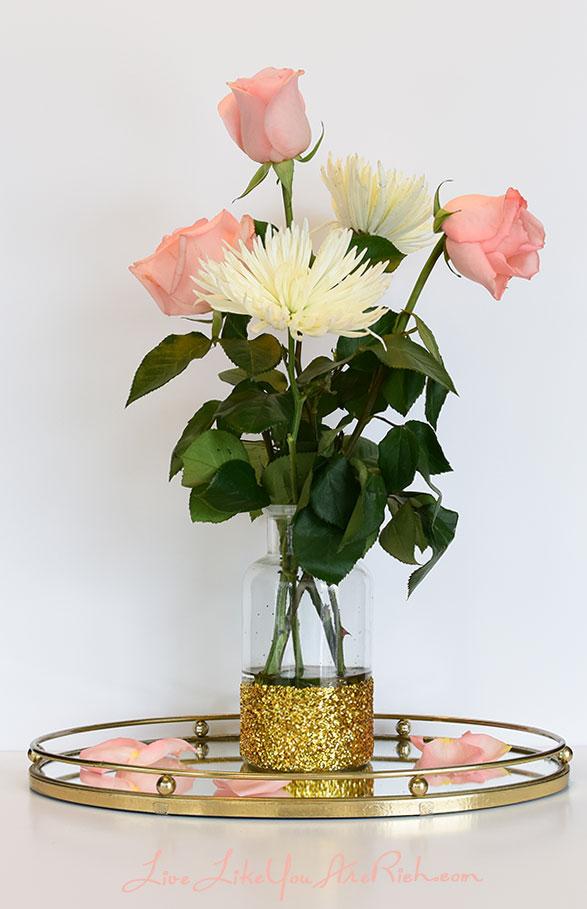 How to Make Glitter Vases