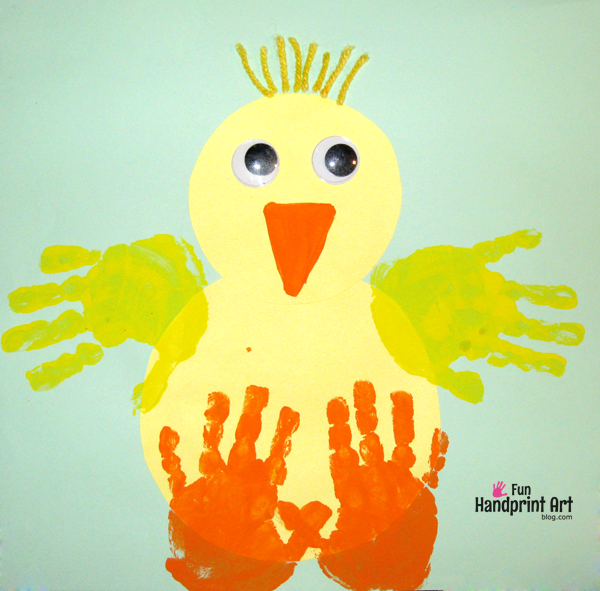 Baby-Chick-Handprint-Craft-for-Easter