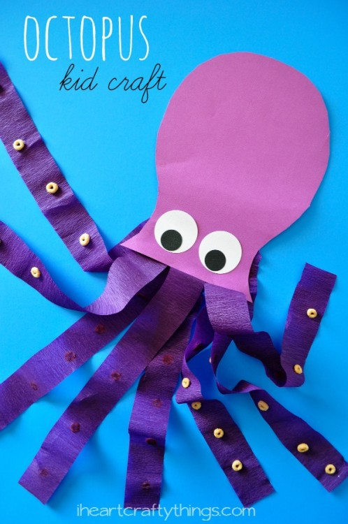 11 preschool crafts to do at home live like you are rich for Octopus craft for preschool