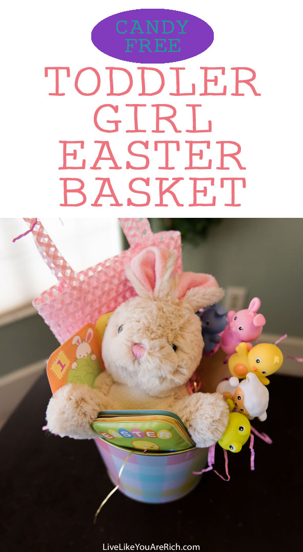 Candy free easter basket for a toddler girl live like you are rich candy free easter basket for a toddler girl negle