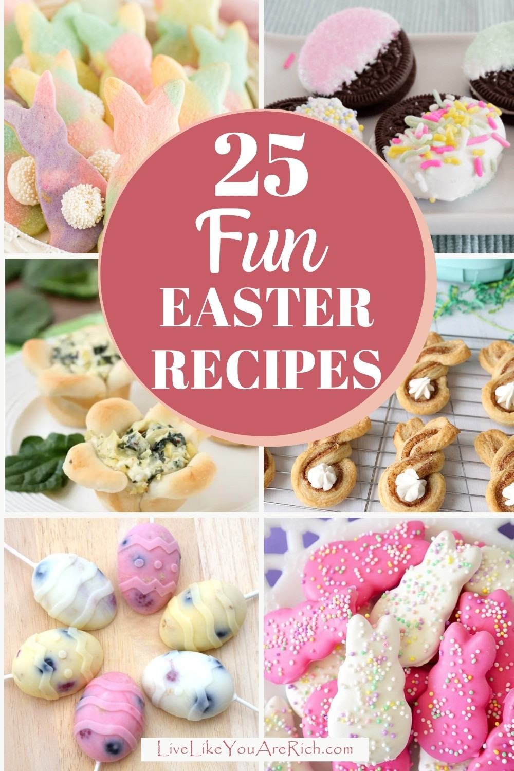 Easter is such a lovely holiday. Making Easter themed recipes are a great way to celebrate as well. Here are 19 Fun Easter Recipes that are great for families with kids!