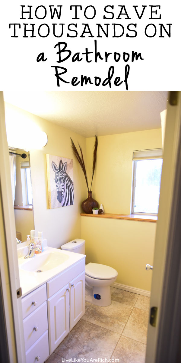 How to Save Thousands on a Bathroom Remodel
