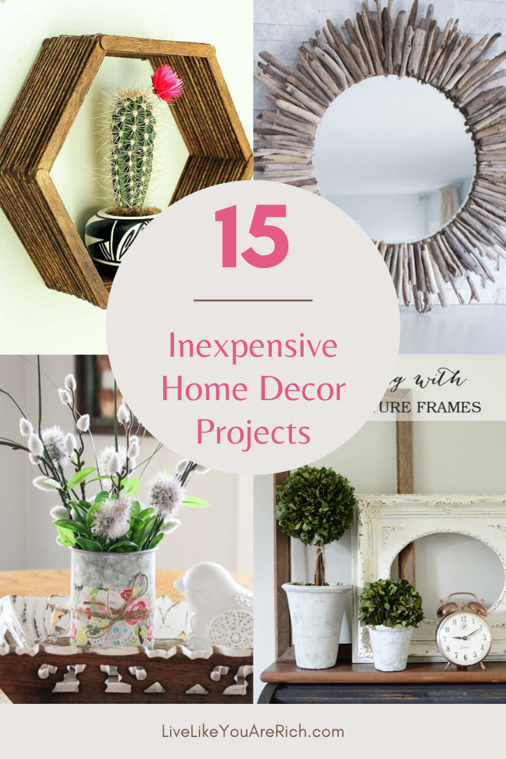 Decorating doesn't have to be super expensive. Using principals of thrift, creativity, and do-it-yourself resourcefulness, you can have quality and affordable home decor! #homedecor #decorations