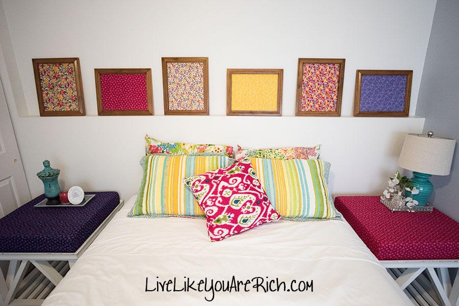 DIY Fabric Wall Art