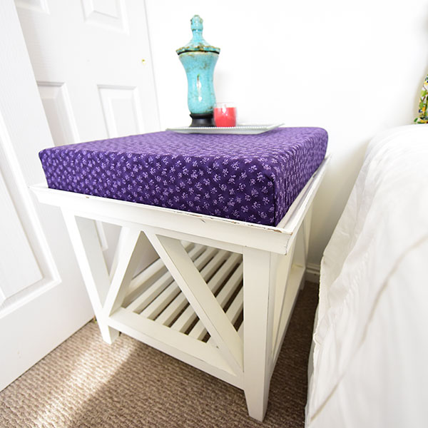 memory foam side table