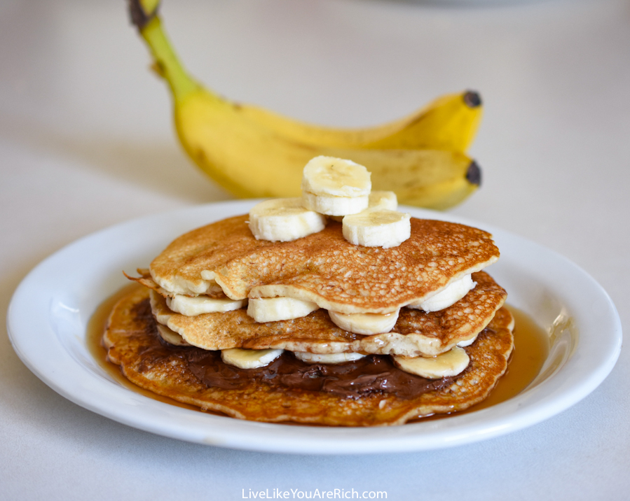 how to add banana to pancake mix