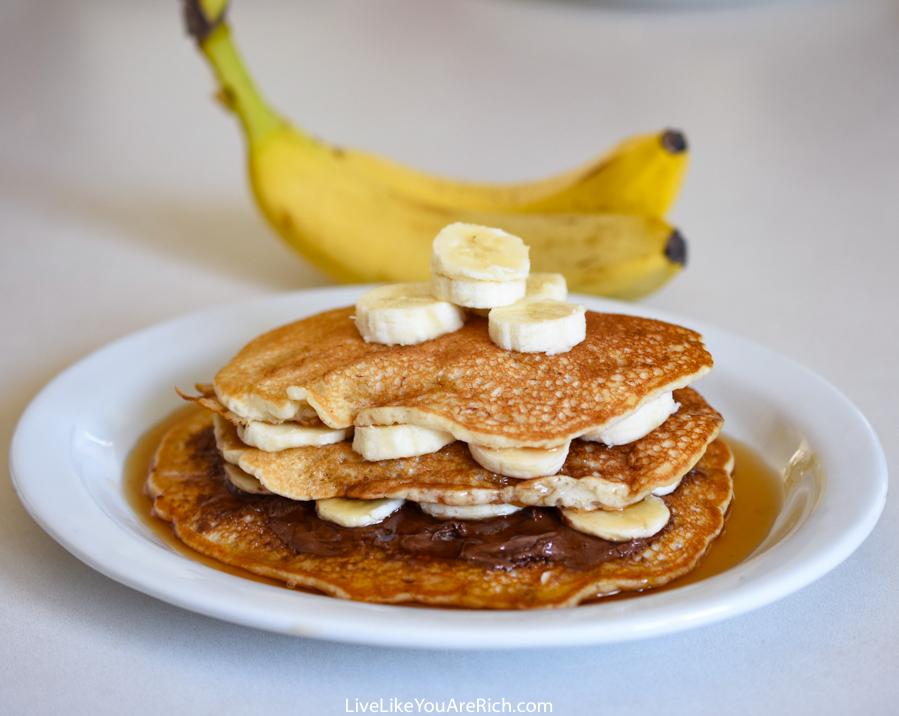 How to Make Banana Pancakes out of Pancake Mix