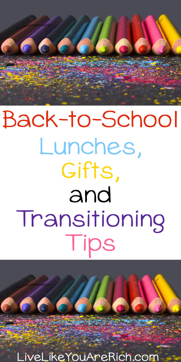 Going back to school is such a fun time of year for most children. I remember while growing up I looked forward to going back to school with great excitement. A few of the things I enjoyed were getting to know new teachers, healthy lunches, meet friends, etc. If you have any kids going back to school soon, you may find following tips and posts helpful.