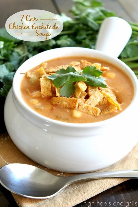 7+Can+Chicken+Enchilada+Soup+#recipe+#easy+#dinner+httpwww.highheelsandgrills.com2013127-can-chicken-enchilada-soup.html+