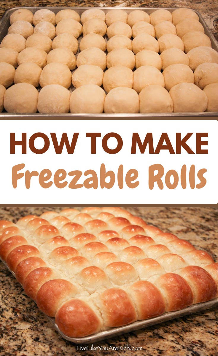 This Homemade Roll recipe is my absolute favorite, not only because it is wonderful to eat straight out of the oven, but because it also freezes amazingly well. #freezablerolls #bread #homemadebread