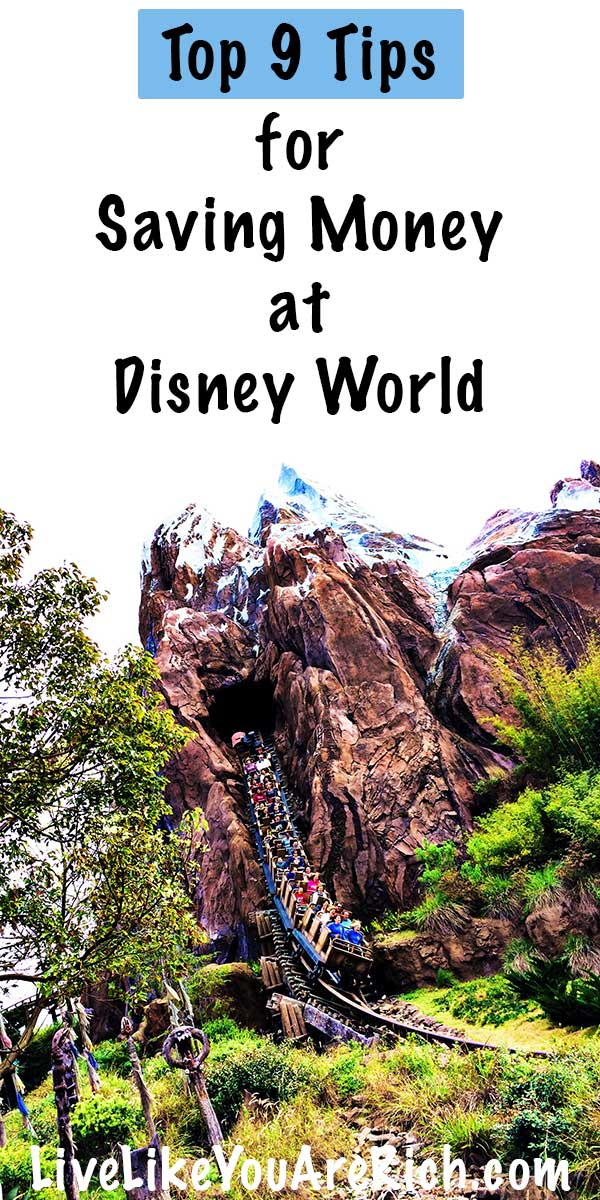 Top 9 Tips for Saving Money at Disney World. #livelikeyouarerich #disneyworld #disney #savemoney #travelwithkids