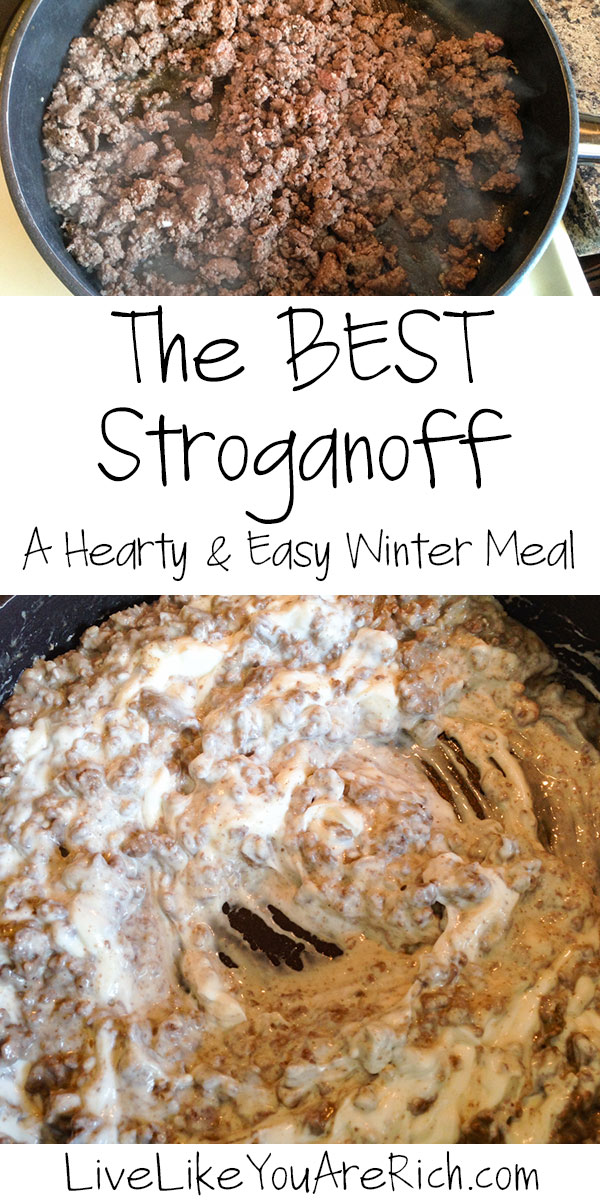 I love hearty meals! Stroganoff is a flavorful, family-friendly, and easy hearty meal to make. And this is by far the best stroganoff I have ever had. I've made this recipe in a variety of ways. I added lower fat and low carb ingredients/substitutions as options for those with diet restrictions. Still ends up tasting delicious!