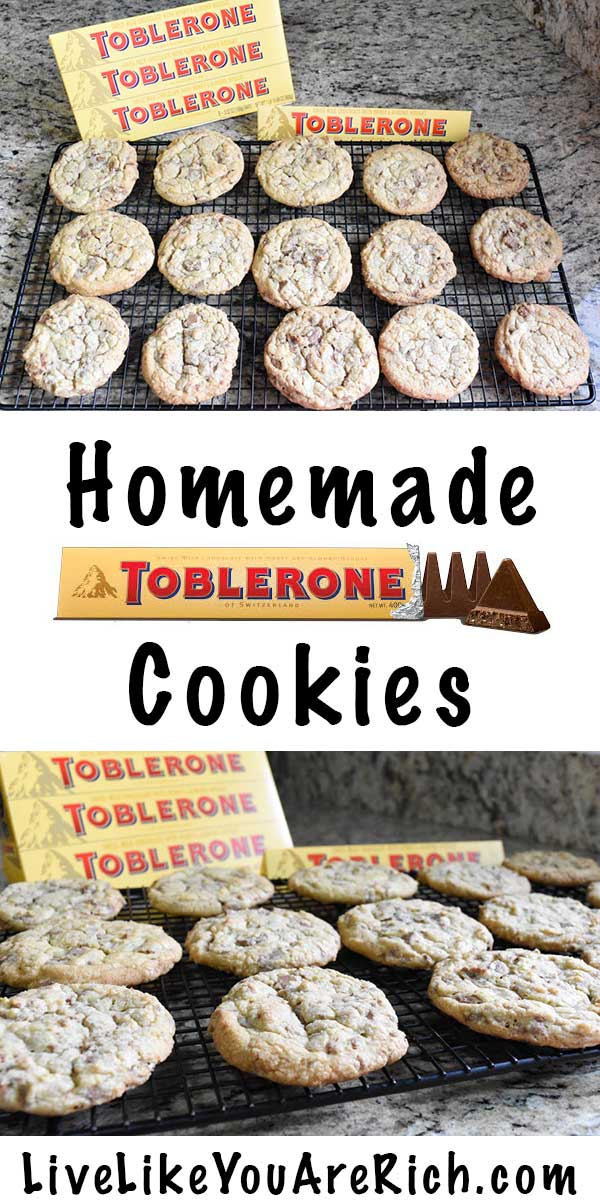 Toblerone Cookies