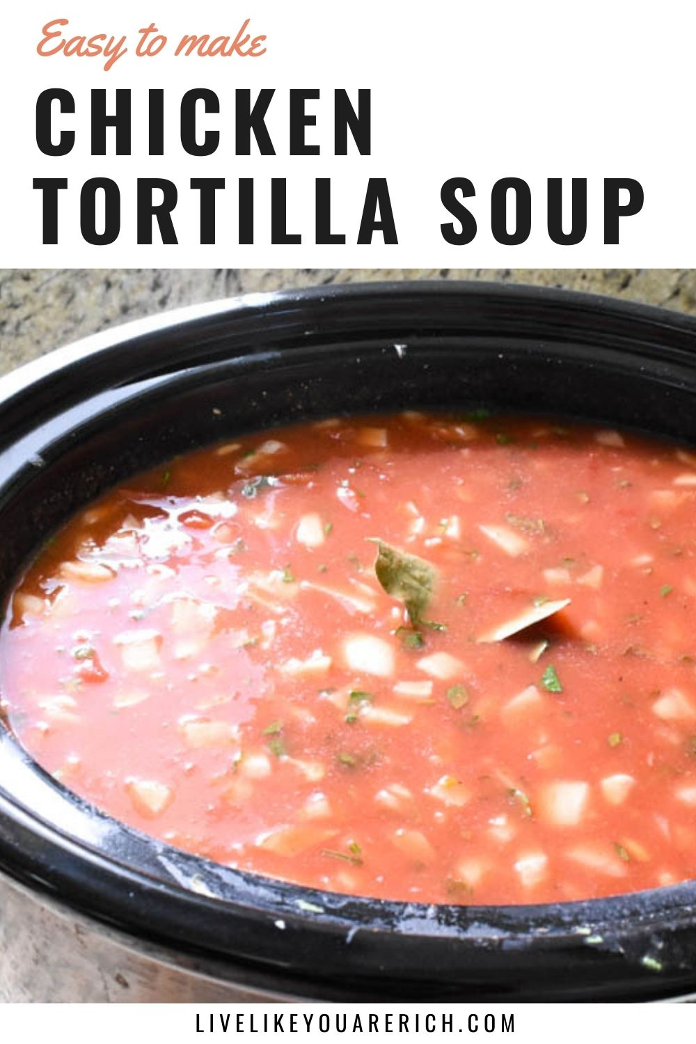 This is an amazing recipe for Slow Cooker Chicken Tortilla Soup. Not only is it an easy meal to prepare (10 or so minutes), it is so tasty, versatile, and healthy. Because families have varying spice tolerance, I've included instructions for the Mild, Medium, and Hot versions. #chickentortillasoup #slowcookerrecipe