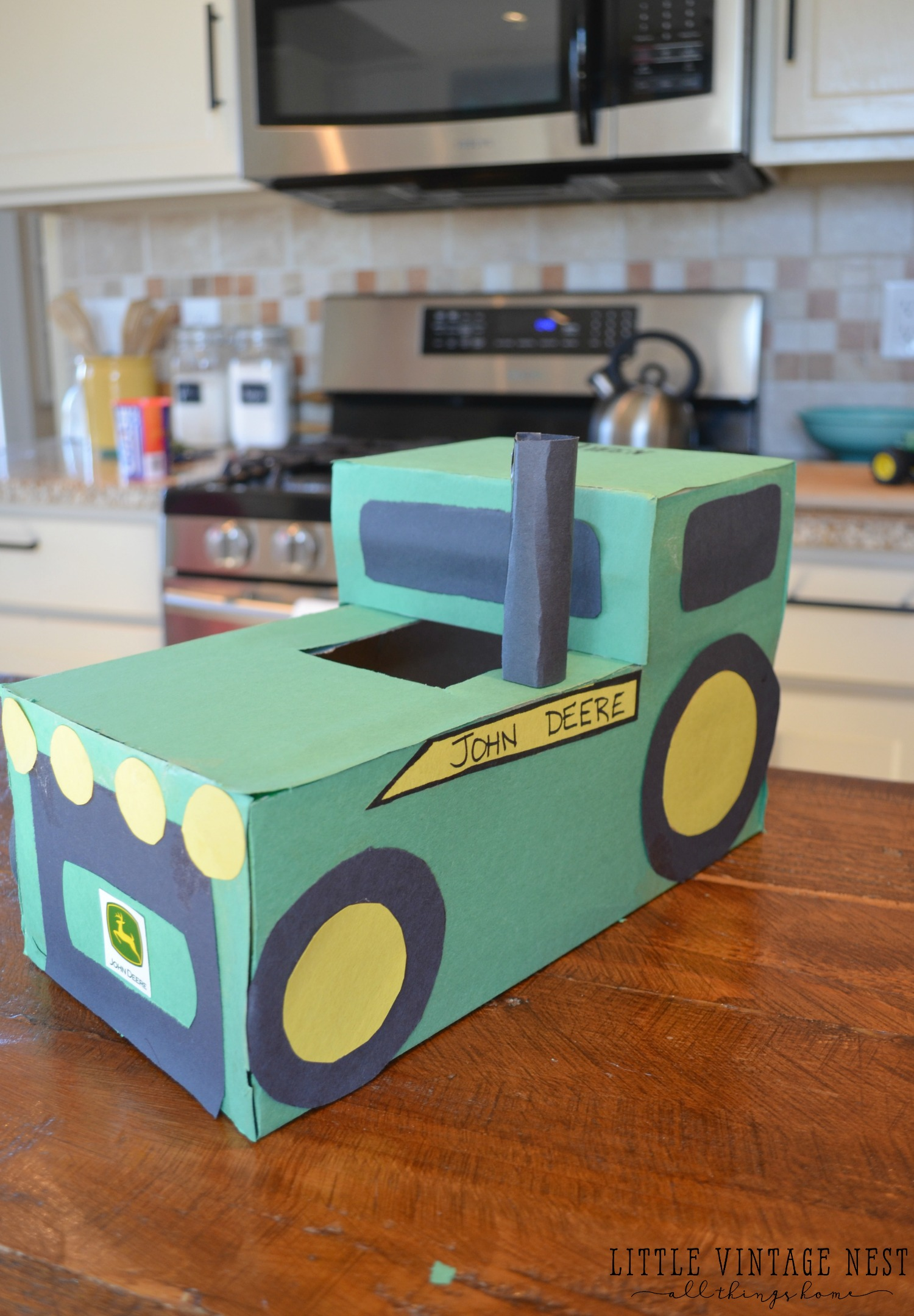 tractor valentines day box simple diy for any tractor loving boys in your life - Valentines Day Boxes For Boys
