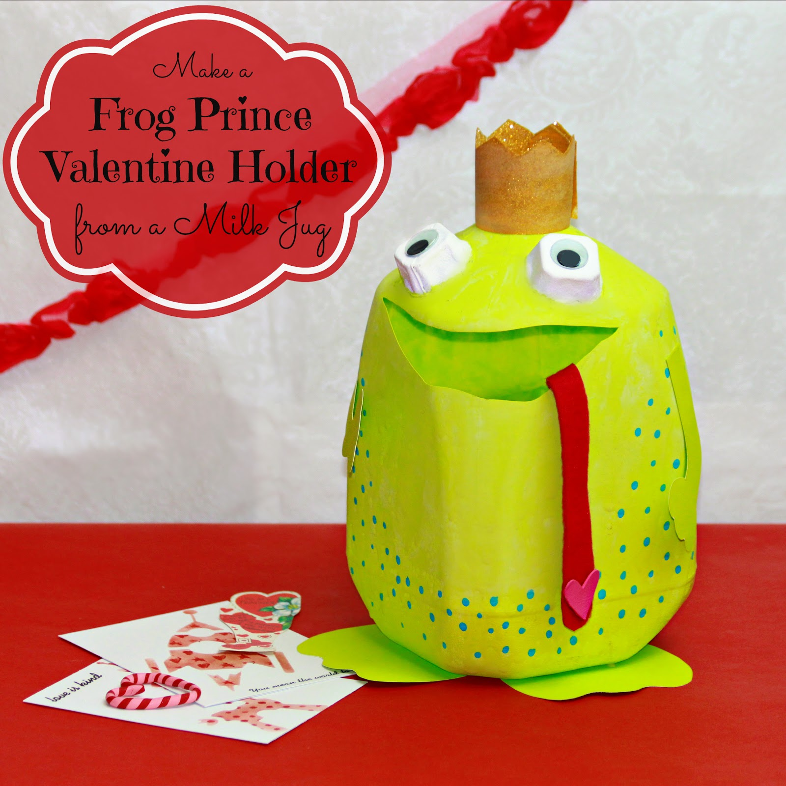 frog prince 29 Adorable Valentine's Day Boxes card holder