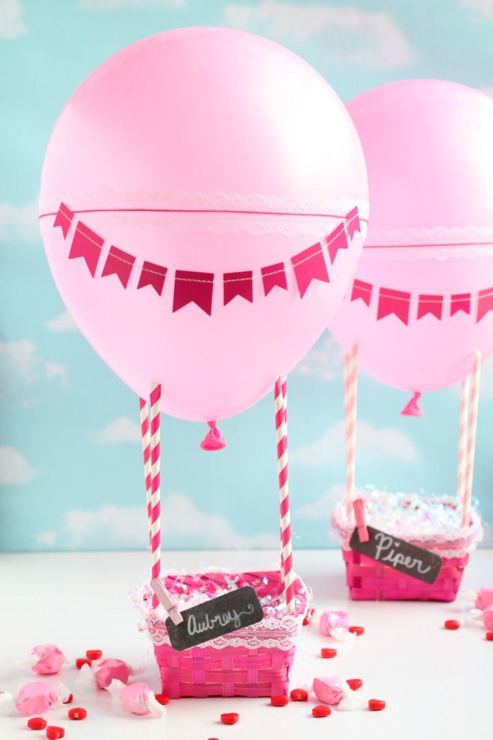 Hot Air Balloon Valentines Day Box