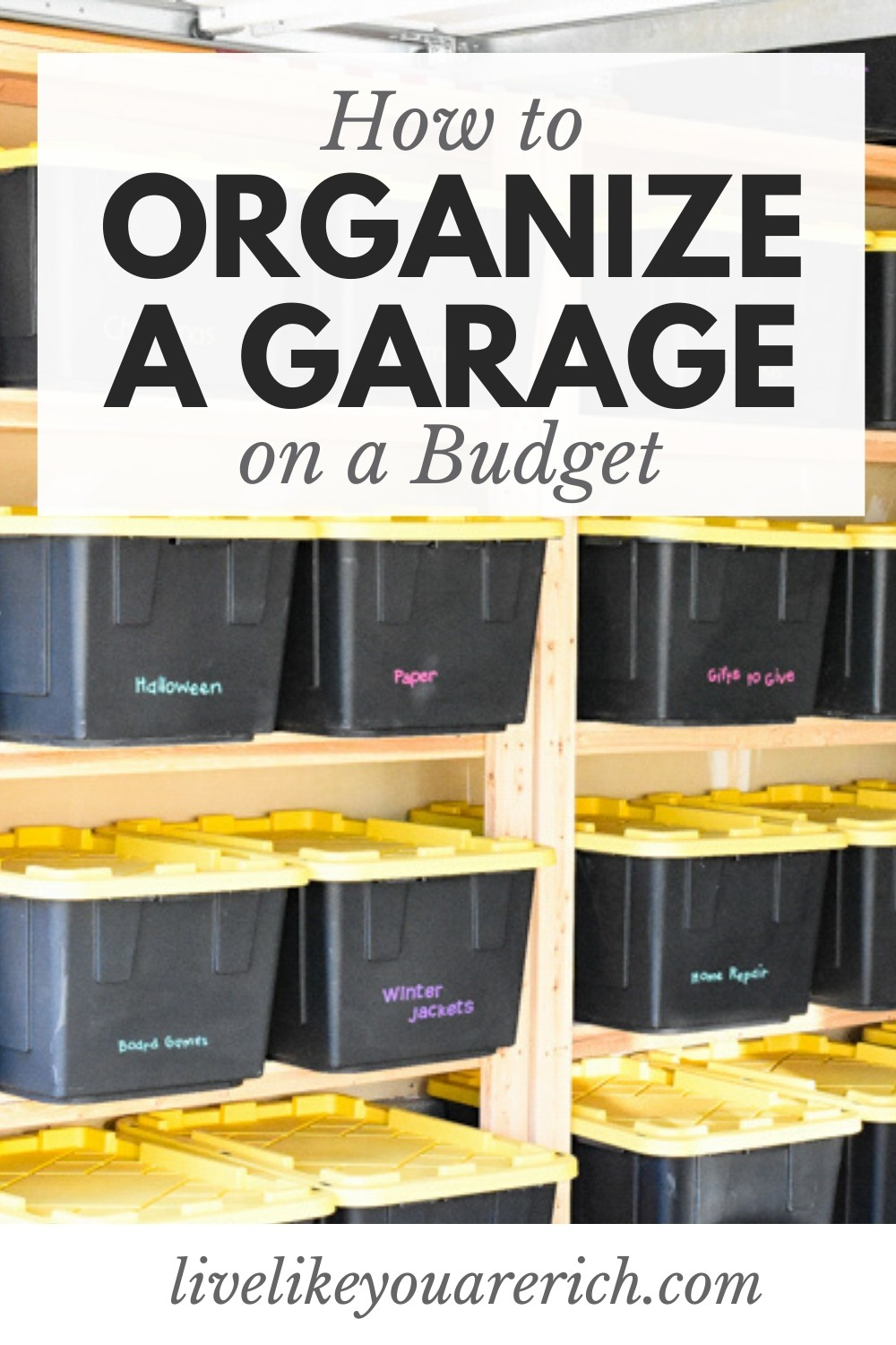 I've done my best to keep my garage organized, but with very little storage, it has been difficult. After some research, I decided to build wood storage shelves and the result has been astounding. My garage now is cluttered free. I'm sharing how I organize my garage the best way on a budget.