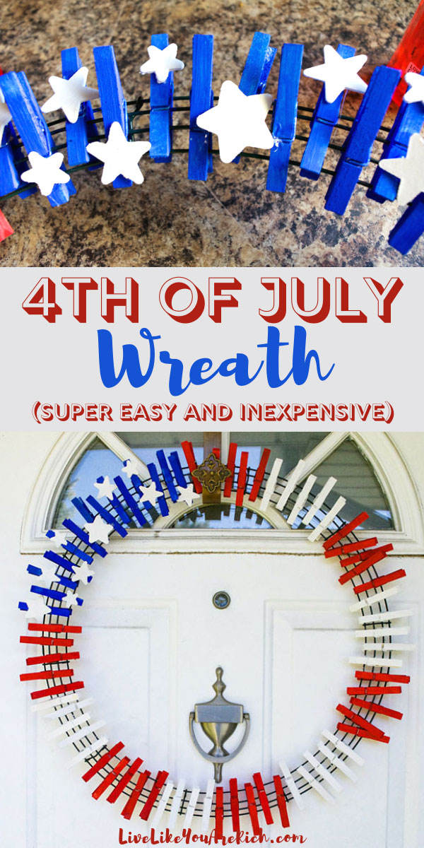 Looking to add a little red, white, and blue to your decor, make this cute and super easy 4th of July wreath with just a few supplies.